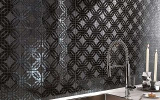 FM Ring Black Mosaico 30x30