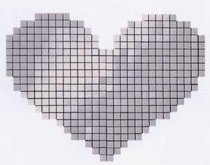 Cupido Cuore Bianco Mosaico 40x53.5