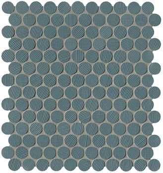 Milano Wall Blu Round Mosaico 29,5x32,5