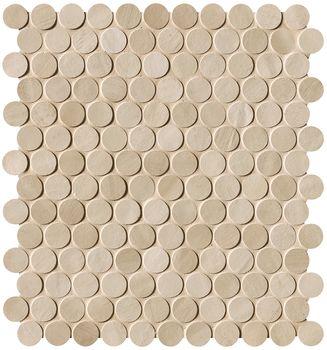 Brickell Beige Round Mosaico Matt 29,5x32,5