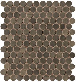 Brickell Brown Round Mosaico Matt 29,5x32,5