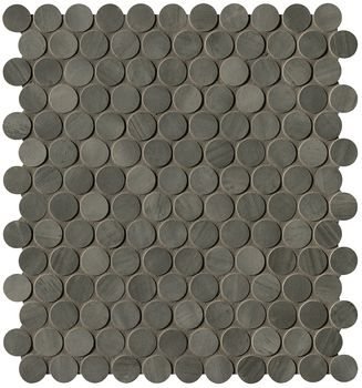 Brickell Grey Round Mosaico Matt 29,5x32,5
