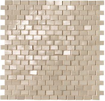 Brickell Beige Brick Mosaico Gloss 30x30