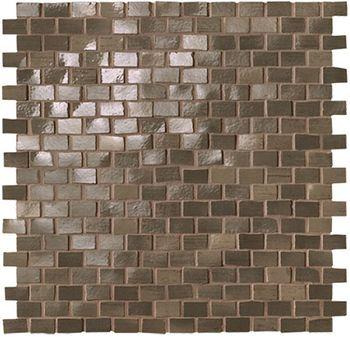 Brickell Brown Brick Mosaico Gloss 30x30