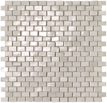 Brickell White Brick Mosaico Gloss 30x30