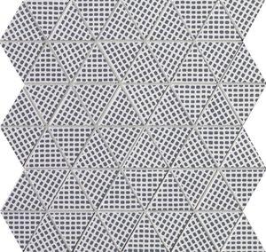 Pat Deco Blue Triangolo Mosaico