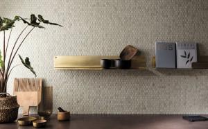 Brickell White Round Mosaico Matt 29,5x32,5