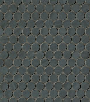 Brooklyn Carbon Round Mosaico 29.5x32.5