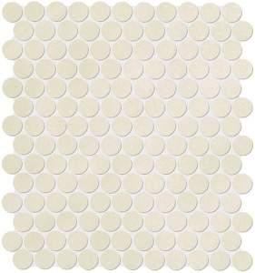 Color Now Beige Round Mosaico 29.5x32.5