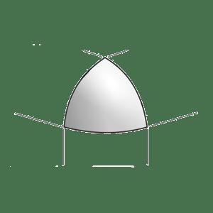 Cupido Bianco A.E. Spigolo 1.5x1.5