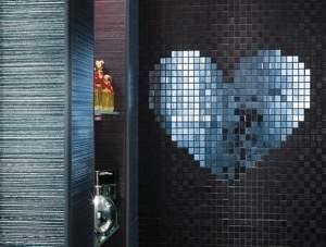 Cupido Cuore Nero Mosaico 40x53.5