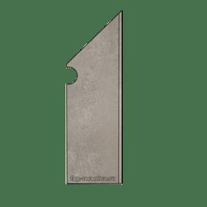Evoque Grey Battiscopa Sagomato DX 7x29.5