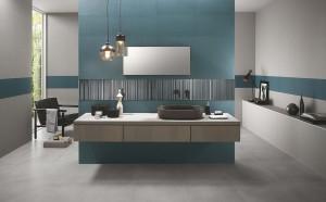 Milano Wall Righe Metal Blu Inserto Rete 30,5x56 RT