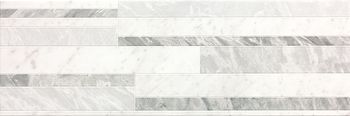 Roma Diamond 25 Deco White Brillante 25x75