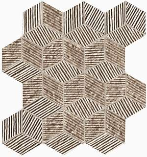 Lumina Glam Taupe Cube Mosaico 22.5x26