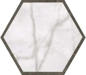 Roma Deco Esagono Calacatta Imperiale 25X21,6