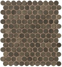 Brickell Brown Round Mosaico Matt 29,5x32,5