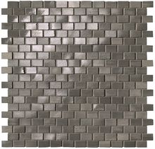 Brickell Grey Brick Mosaico Gloss 30x30