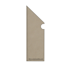 Base Sabbia Battiscopa Sagomato SX 7.2x30