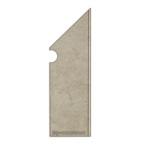 Desert Beige Battiscopa Sagomato DX 7.2x30
