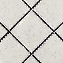 Roma Diamond Incroci Carrara Nero Reale Inserto 60x60