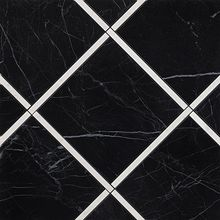 Roma Diamond Incroci Nero Reale Carrara Inserto 60x60