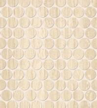 Roma Round Travertino Mosaico 29,5X32,5
