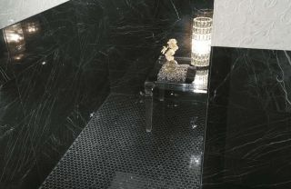 Roma Diamond 25 Nero Reale Brillante 25x75
