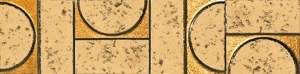 Evoque Sigillo Oro Listello Mosaico 7.5x30.5