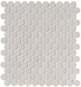 Milano Wall Bianco Round Mosaico 29,5x32,5