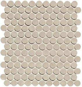 Chelsea Brick Beige Round Mos 32.5x29.5