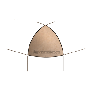 Creta Naturale A.E. Spigolo 1x1