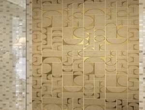 Evoque Sigillo Oro Inserto Mosaico 30.5x30.5