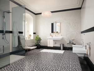 Fap Suite Rose Bianche Mosaico Mix 15 Pezzi 91.5x152.5