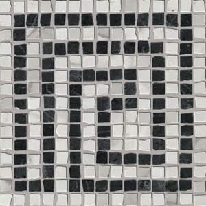 Roma Angolo Greca Statuario Grafite Mosaico 20X20