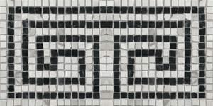 Roma Greca Statuario Grafite Mosaico 20X20