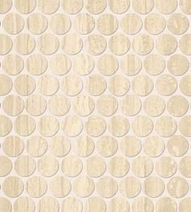 Roma Round Travertino Mosaico 29,5X32,5