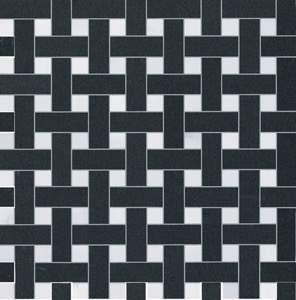 Splendida Intreccio Bianco Nero Mosaico 30.5x30.5