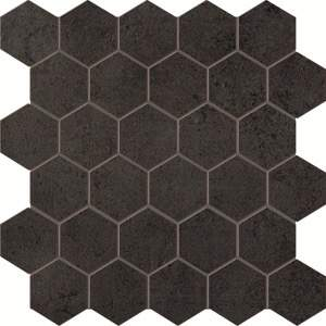 Terra Antracite Esagono Mosaico 30x30