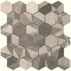 Terra Deco Esagono Grey Mosaico 30x30