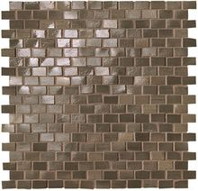 Brickell Brown Brick Mosaico Gloss 30x30