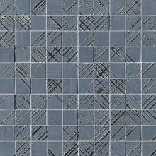 Bloom Metal Blue Silver Mosaico 30.5x30.5