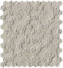 Bloom Grey Print Esagono Mosaico 32.5x29.5